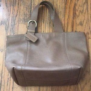 vintage 90s leather camel brown coach handbag